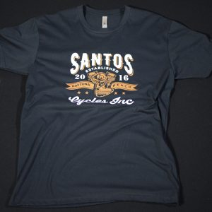 Santos Cycles GRAY LOGO TEE